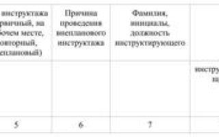 Журнал регистрации первичного инструктажа на рабочем месте — законодательная база, порядок ведения