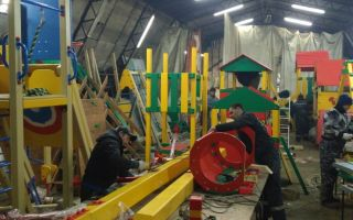 Производство детских площадок и технология изготовления