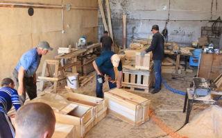 Производство ящиков + технология изготовления из дерева и пластика
