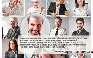 Как открыть брачное агентство — бизнес на знакомствах