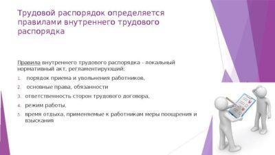 Трудовой распорядок организации: нормативы