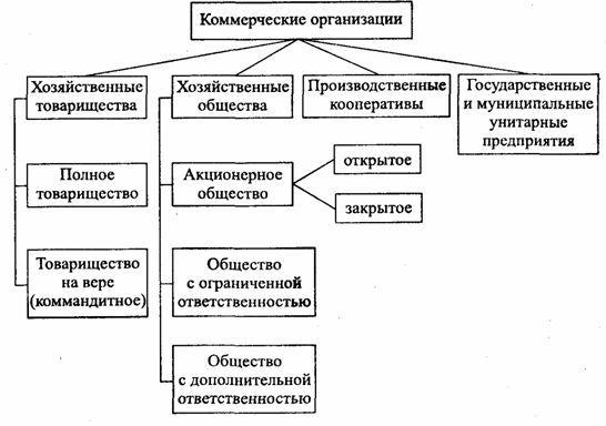 Определение типов коммерческих организаций — их основные цели, признаки и преимущества